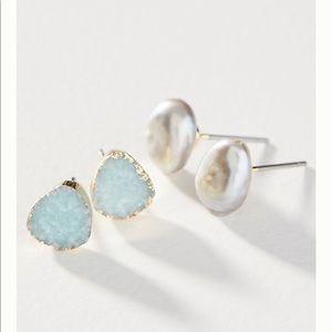 Anthropologie Seaside Earring Set
